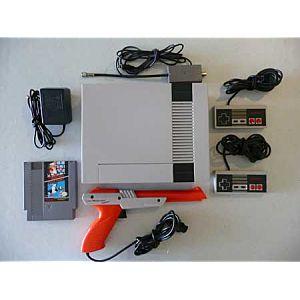 Original NES Nintendo Console System w/ Gun, Games